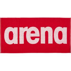 arena Gym Soft Asciugamano, rosso/bianco